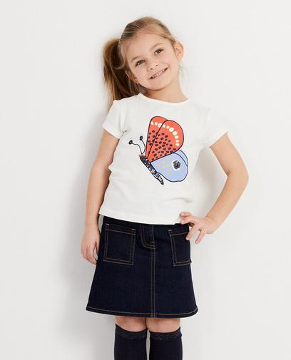 T-Shirt mit Print + Pailletten